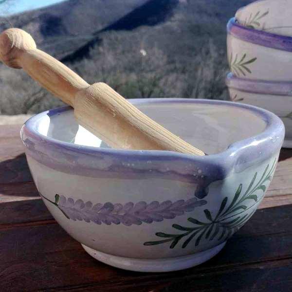 Mortero de cerámica Lavender