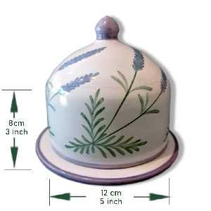 Quesera de cerámica esmaltada
