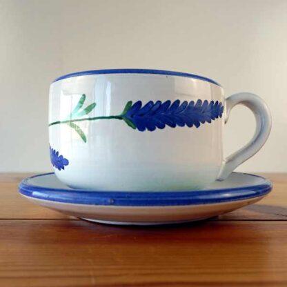 Juego de taza y plato de desayuno Lavender