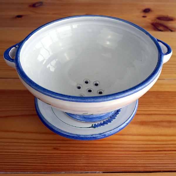 Colador de cerámica lavender.
