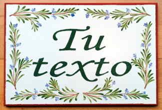 Azulejo 20 x 30 cm decorado a mano