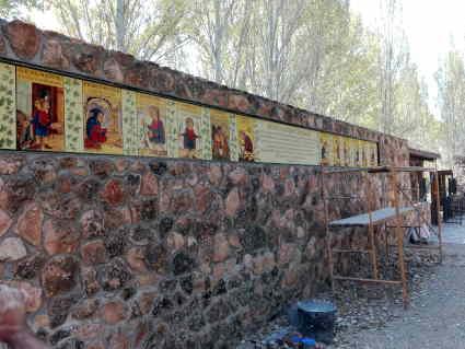 Mural cerámico para exteriores.