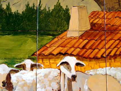 """Detalle de mural cerámico de Alfarería """"El Romeral"""""""