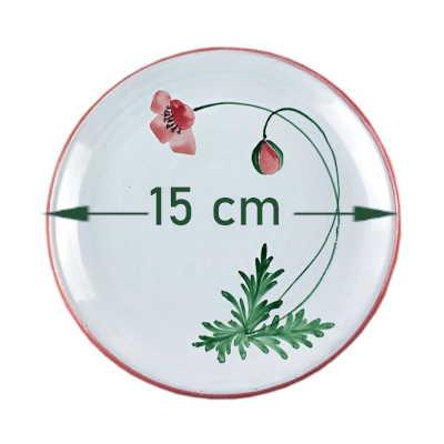 Plato 15cm colección ababol medidas